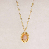 Oval Pendant | Peach