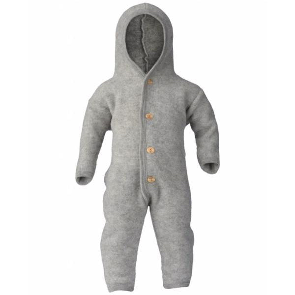 Hooded Overall Light Grey Melange