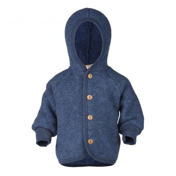 Hooded Jacket Blue Melange