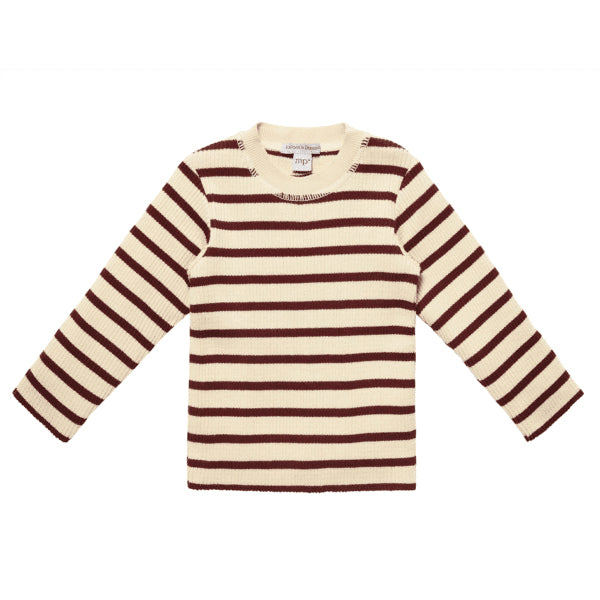 Knitted Sweater red stripes