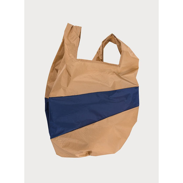 Shoppingbag - Camel & Navy