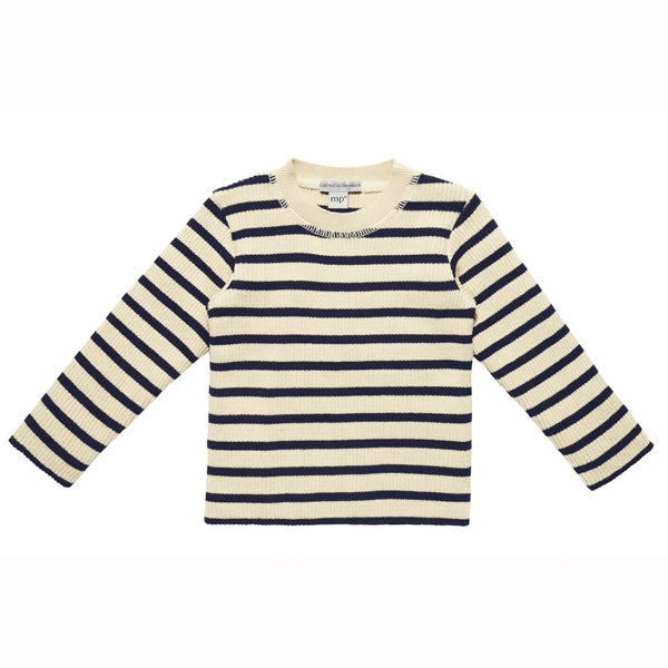 Knitted Sweater blue stripes