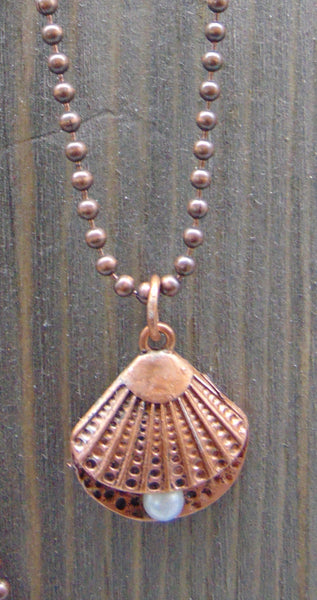 Copper Ball Chain Necklaces by Sarah Bernzott
