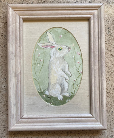 """Sweet Rabbit"" Original Gouache Painting by Ting Blessington"