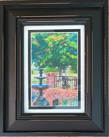 """In the Garden"" Framed Pastel Print by Sarah Bernzott"