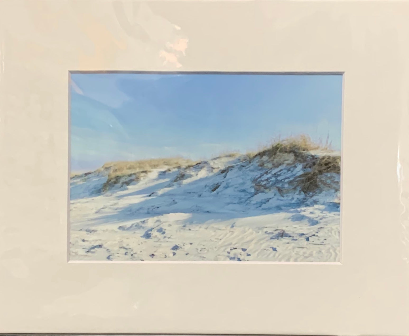 """North Beach Dunes"" Matted Oil Print by Sarah Bernzott"