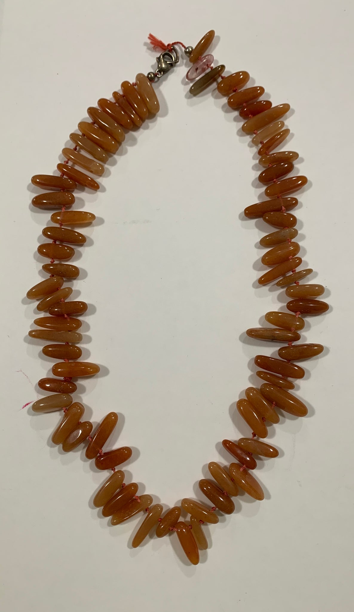 Red Carnelian Dagger Necklace