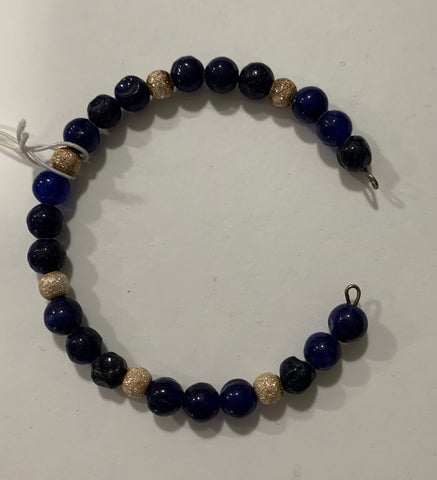Dyed Jade Stretch Bracelet by Marianne Bramble