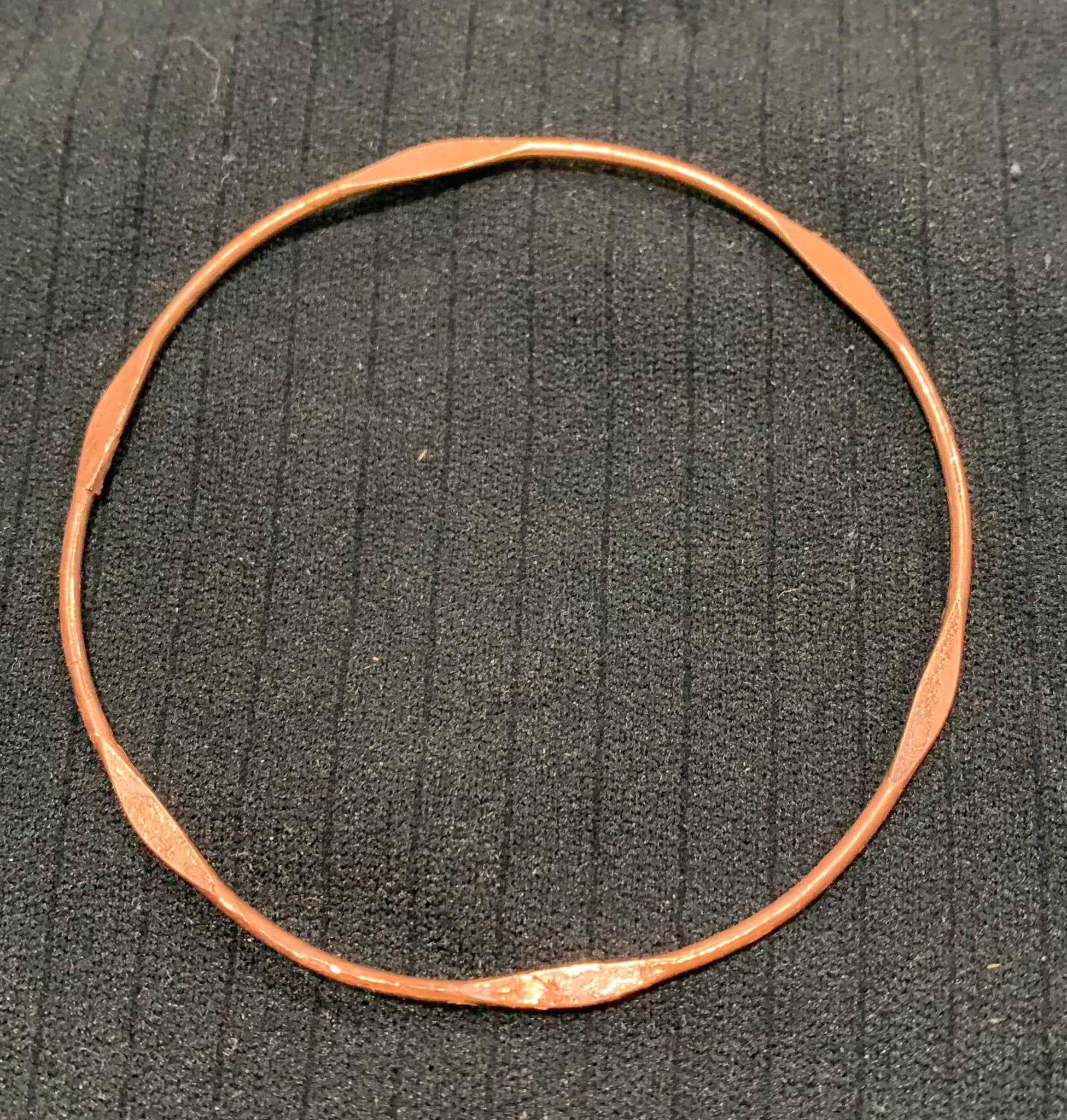 Electroformed Copper Bangle by Sarah Bernzott