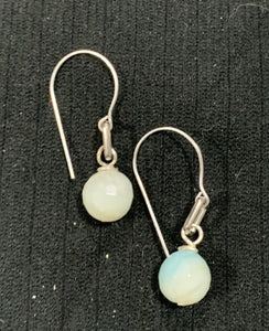 Silver Amazonite Earrings by Sarah Bernzott