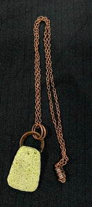 Green Electroformed Copper Lava Rock Necklace by Sarah Bernzott
