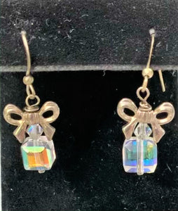 Sterling Silver and Swarovski Gift Box Earrings by Sarah Bernzott