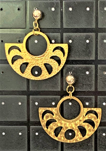 Brass Drop Earrings by Sarah Bernzott