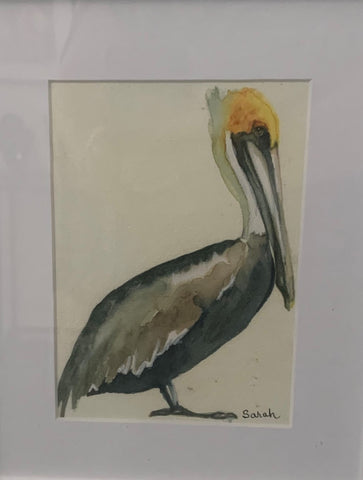 """Pelican I"" Original Mixed Media by Sarah Bernzott"