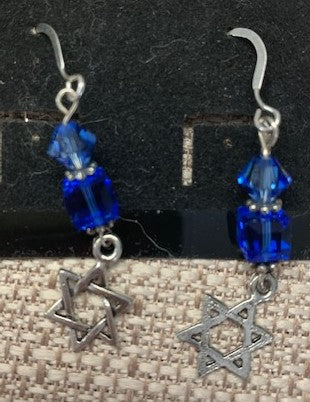 """Star of David"" Sterling Silver Earrings by Amy Doty"