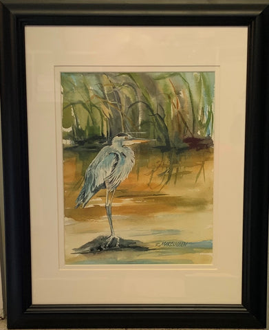 """Blue, Great"" Original Watercolor by Rebecca Marcussen"