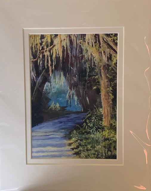 """Morning Light"" Matted Pastel Print by Rebecca Marcussen"