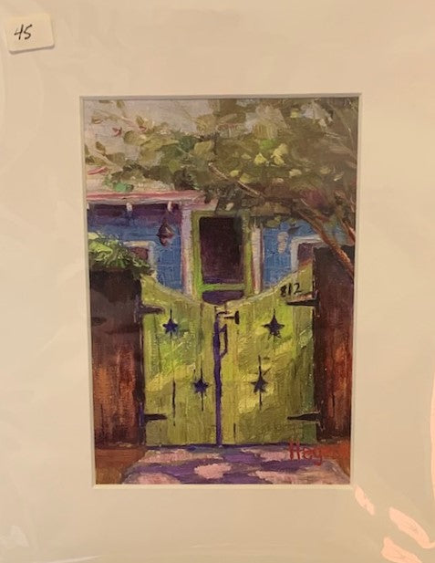 """Green Gate"" Matted Oil Print by Beth Hegeman"