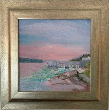 """Pink Marsh"" Original Oil by Beverly Waite"