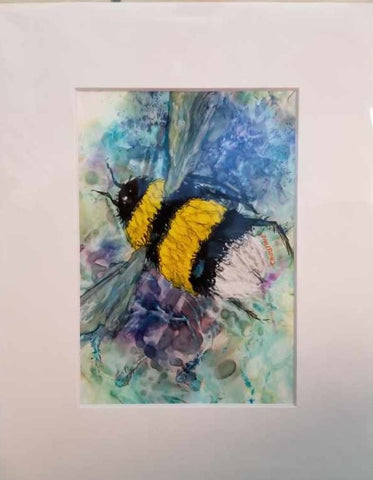 """Bumble Bee"" Original Watercolor by Christine Bishop"