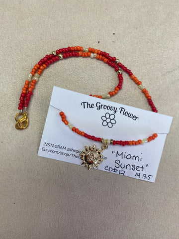 """Miami Sunset"" Necklace by Corrine Dowd"
