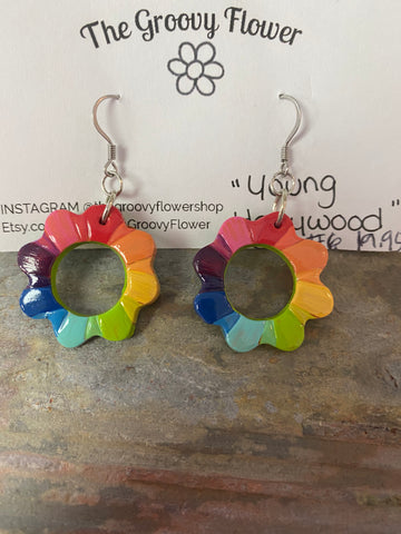 """Young Hollywood"" Drop Loop Earrings by Corrine Dowd"