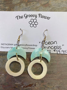 """Ocean Princess"" Drop Earrings"