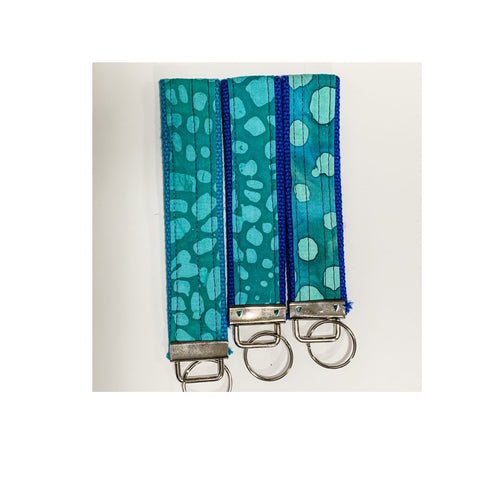 Wristlet Key Fob/Keychains - Teal by Jan Will