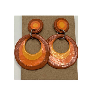 "Warm Tone ""Mod"" Earrings"