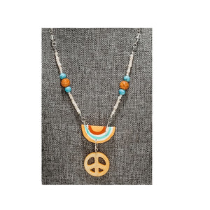 """Funky Feeling"" Painted Pendant Necklace"