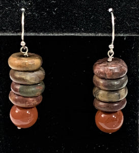 Red Creek Jasper Earrings by Marianne Bramble