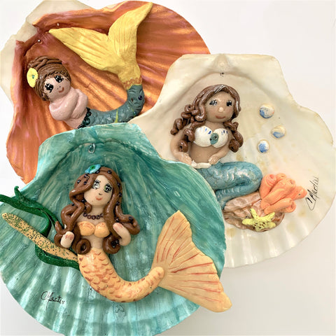 """Mermaid Collection"" Christmas Ornaments by Cheryl Martin"