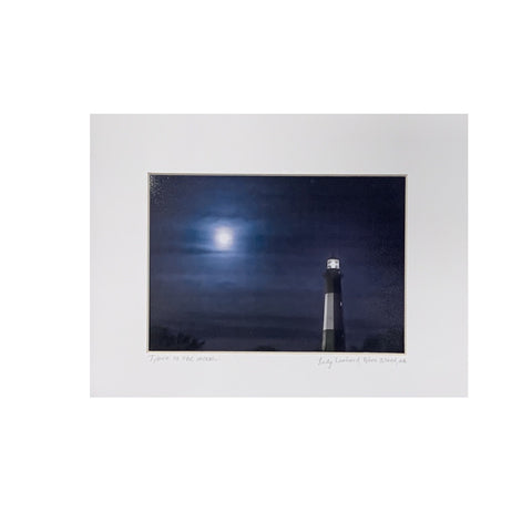 """Tybee to the Moon"" Matted Photographic Print by Judy Lombard"