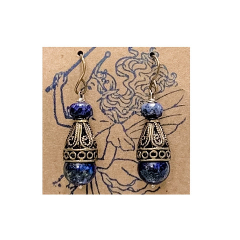 Blue Lapiz Earrings by Marianne Bramble