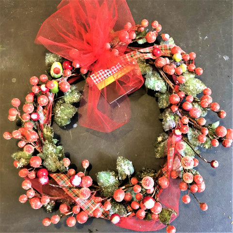 Christmas Wreath by Gena Fausel
