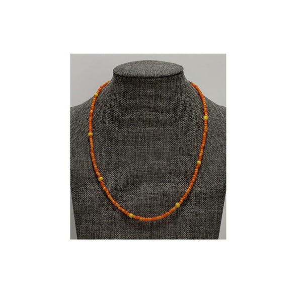 Orange and Yellow Beaded Necklace