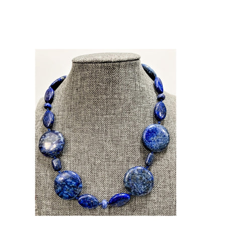 Blue Grade A Lapis Necklace by Marianne Bramble
