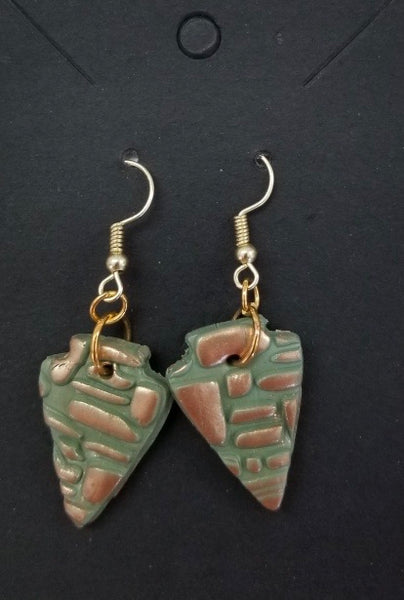 Triangle Polymer Earrings