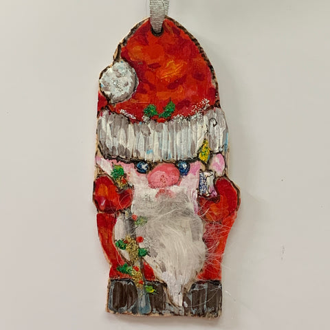 """Gnome Christmas Ornaments""  Original Acrylic by Ting Blessington"