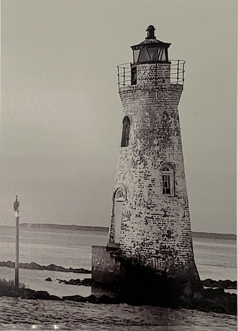 """Cockspur Lighthouse Low Tide"" Magnetic Sleeved Photographic Print by Twisted Sisters"