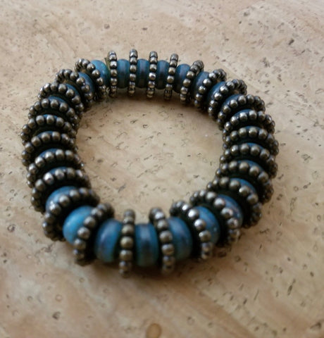 Ceramic Circles Beaded Bracelet by Marianne Bramble