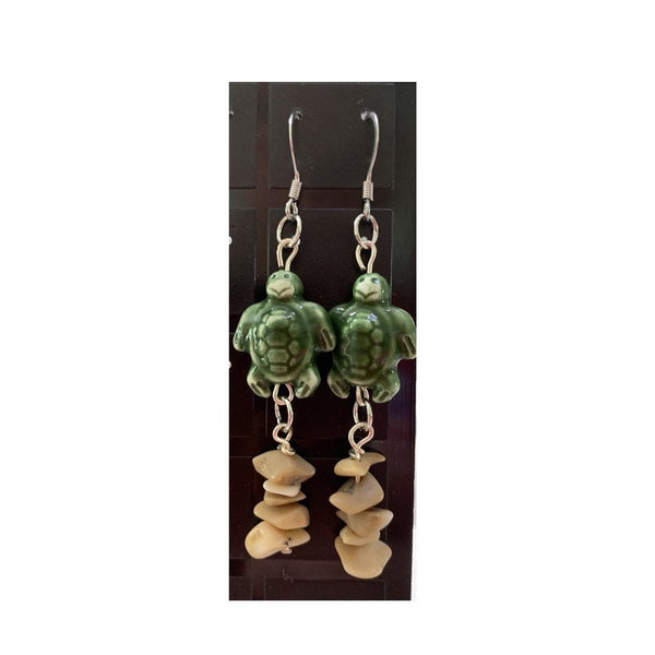 """Turtles and Coral"" Dangles"