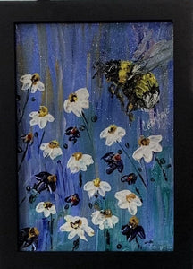 """Happy Bee"" Original Acrylic by Christine Bishop"
