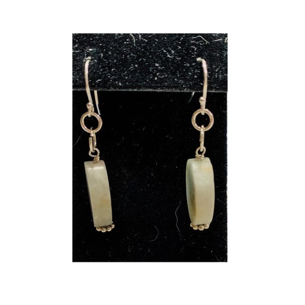 Oval Amazonite Earrings by Marianne Bramble
