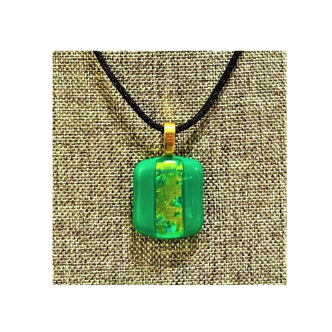 Green and Dichroic Necklace