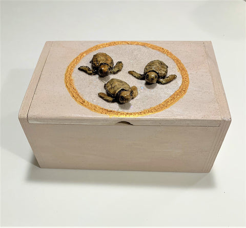 Trio of Tybee Loggerhead Hatchlings Keepsake Box