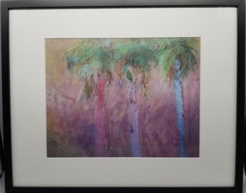 """Three Palms"" Oil Print by Patricia Geary"