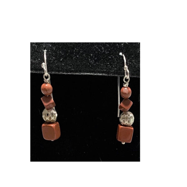 Jasper Sterling Silver Earrings