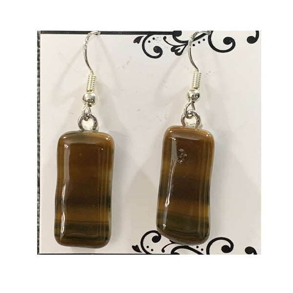"""Nature's Neutrals"" Glass Fused Earrings"