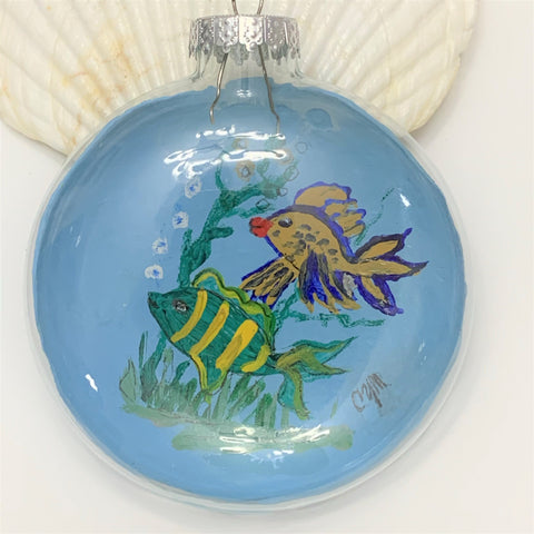 """Fishes"" Christmas Ornament by Cheryl Martin"